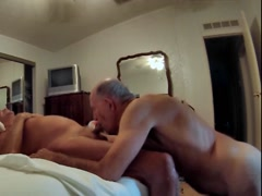 Bruce Wayne from Tequesta naked on his knees sucking cock