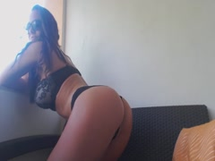 American Babe Plays On Balcony - Shes Live on CAM26,COM