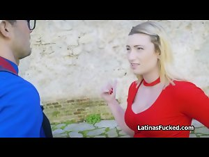 Busty Latina pounded by big cock tourist