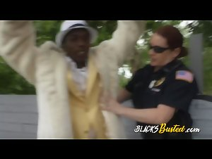 Black criminal in suit receives wet BJ